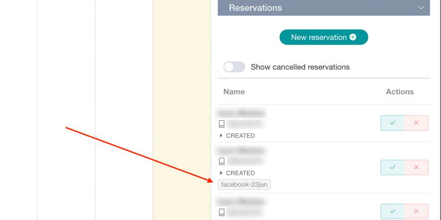 Reservation referer code